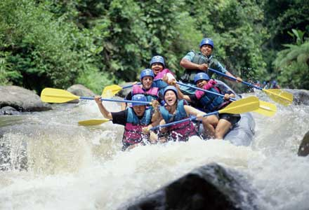 River rafting Bali in Indonesia