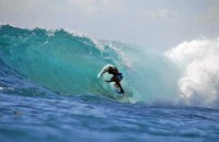 surfing at Lembongan island