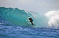 surfing at Lembongan island