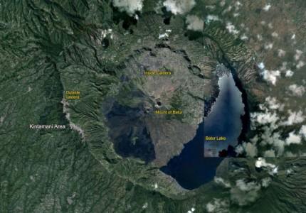 batur bali volcano